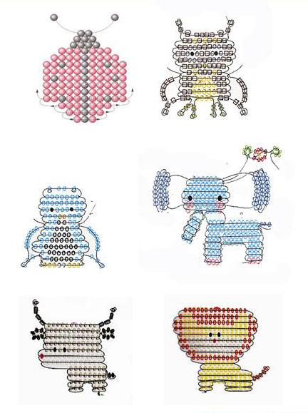 игрушки из бисера схемы