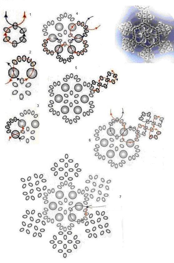 цветы бисера мозаичное плетение схеми - Рабочие схемы и описания в работе.