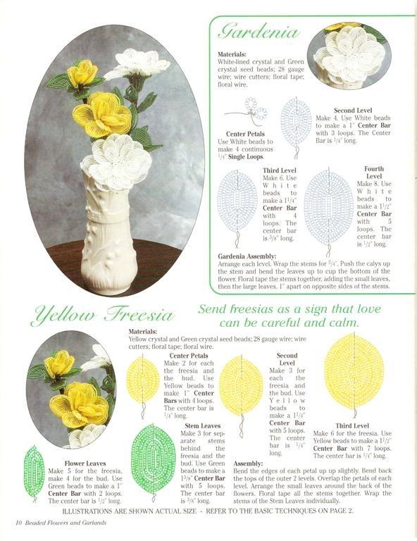 Поделки из бисера со схемами цветы из