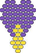 Схемы цветов из бисера мозаичным и кирпичным плетением.