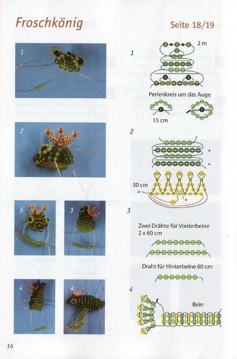 лягушка из бисера схема 1.