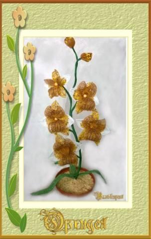 орхидея из бисера схема плетения для начинающих - Это бисер!