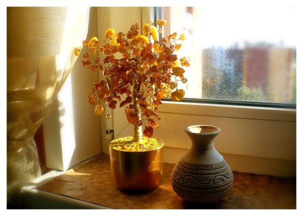 Янтарное дерево своими руками - Делаем фенечки своими руками